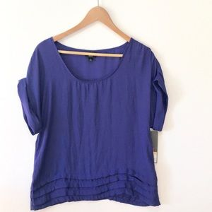 Mossimo Supply Co. Tops - Mossimo royal blue short sleeve flowy top